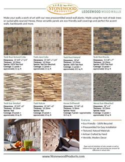Handout of Ledgewood Wall Panels
