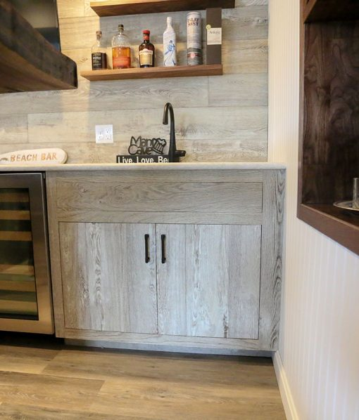 Sawyer Mason Drift used as cabinets