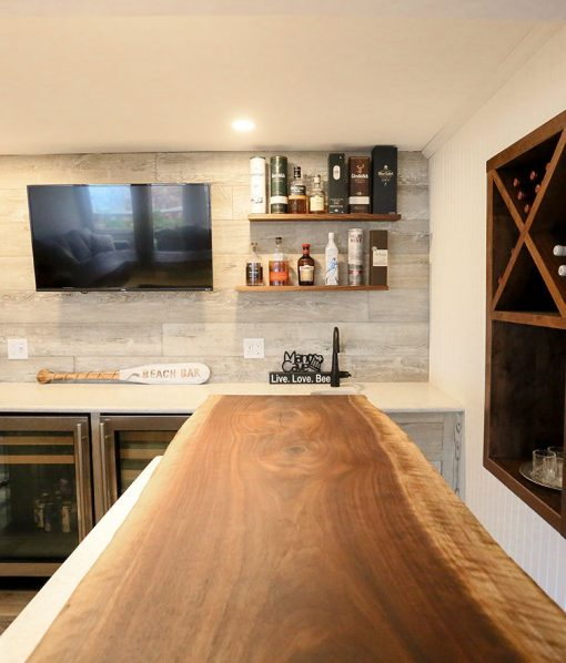 Sawyer Mason Drift Wall Accent with Live Edge Bar