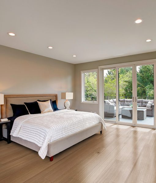Greenwich Quarter & Rift Sawn Floors installed in bedroom