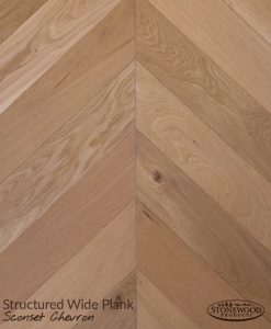 Wide Plank Sconset Chevron Floor Pattern