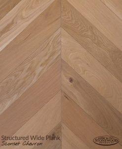 Wide Plank Sconset Chevron Floor Pattern