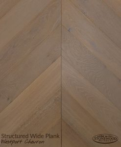 Wide Plank Westport Chevron Hardwood Flooring