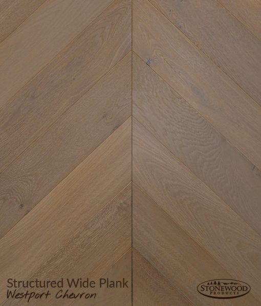 Wide Plank Westport Chevron Hardwood Flooring