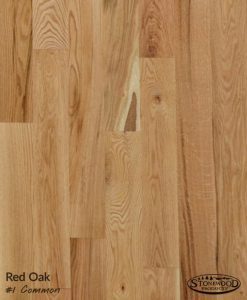 Unfinished Red Oak Flooring #1 Common