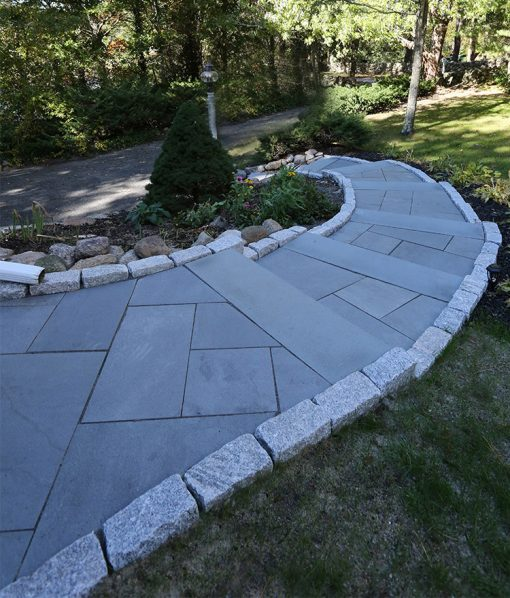 Everblue Paver Walkway with Stair Treads