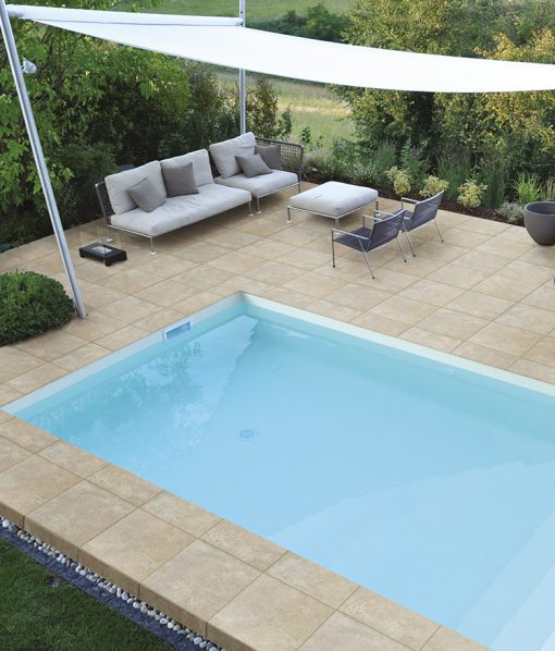 Everblue™ Sand Stone Pavers Pool Deck