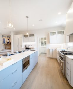 Sawyer Mason Structured Fogg Wide Plank Floors installed in Kitchen