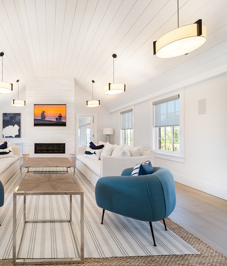 Sawyer Mason Structured Fogg Wide Plank Floors with Shiplap Ceilings