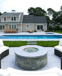 natural granite slab pavers blue pool