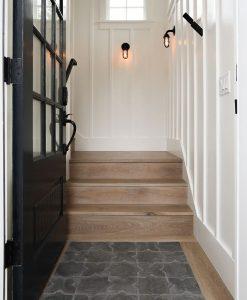 Cozy Cottage Entrance with Custom Sawyer Mason Madaket Stairs