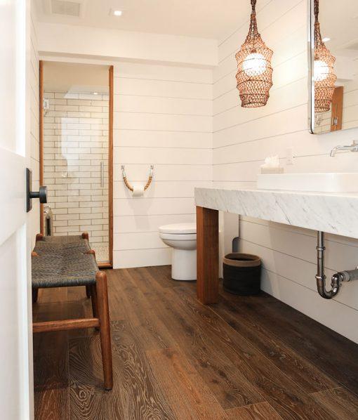 Cozy cottage with Sawyer Mason Esplanade with Shiplap bathroom