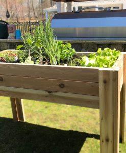 cedar garden kit bed