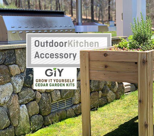 cedar garden planter bed