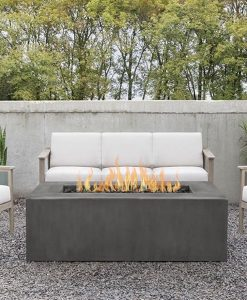 rectangle patio fire pit