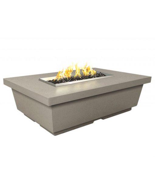 rectangle propane fire table