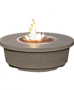 round fire table