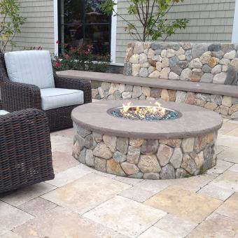 New England Round Stone Fire Pit